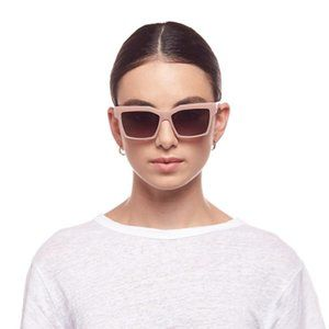 Le Specs Pink Square Azzurra Sunglasses